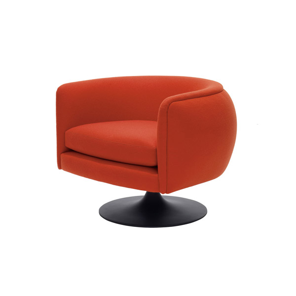D'Urso Swivel Lounge Chair | Modern Furniture Houston Texas