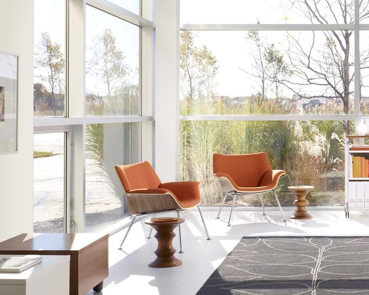 Eames Walnut Stools Modern Furniture Houston Texas